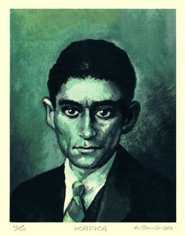 Kafka Signed & Numbered Serigraph Print